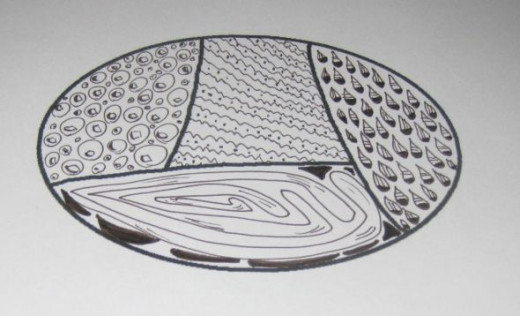 Oval doodle by Peggy Hazelwood.