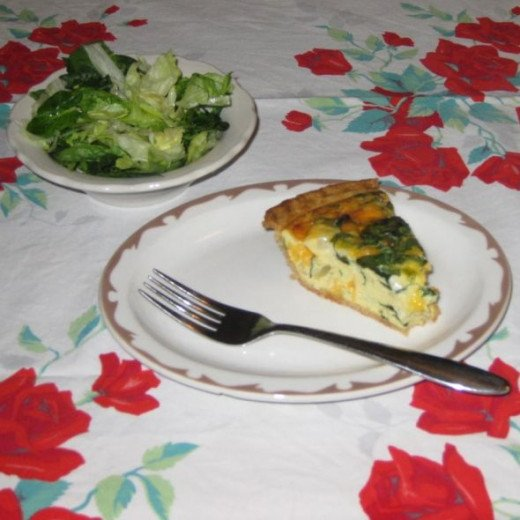 Quiche is a delicious light lunch when served with a salad and fruit.