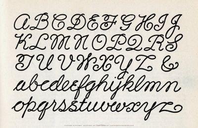 Cursive Alphabet Clip Art