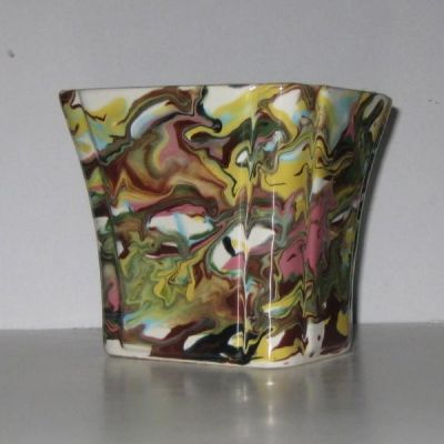 Marbled Vintage Planter