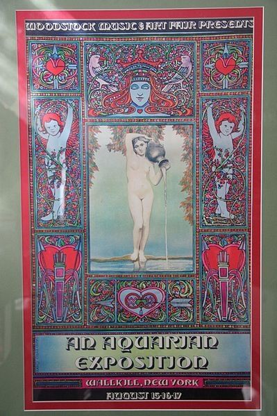 The Original Woodstock Poster -- An Aquarian Exposition