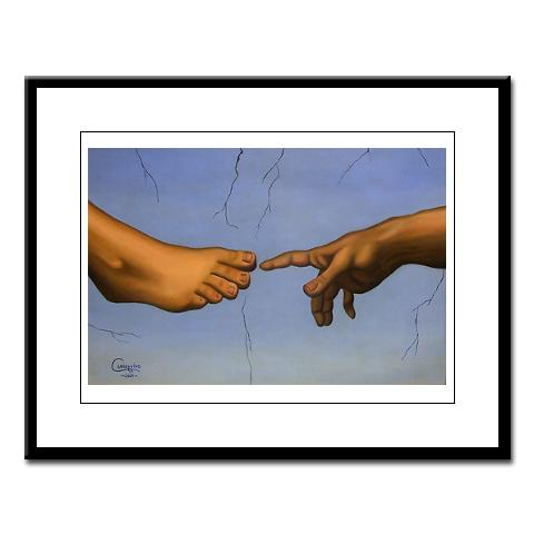 Hand to Foot Large Framed Print