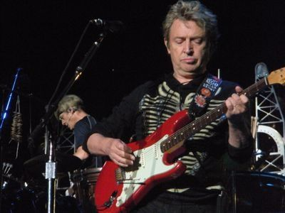 Stewart Copeland and Andy Summers on stage, 2008.