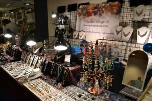 Build vertical space for your craft fair display using gridwall