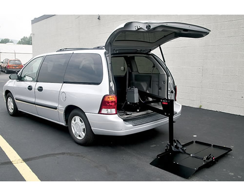 This is an internal platform lift, which can be used in vans and large vehicles.