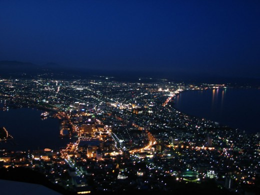 Hakodate at night from the top of the mountain - a stunning view!