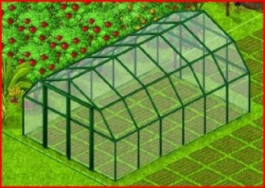 Country Life Greenhouse with Information