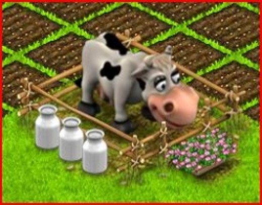 Making Milk in Country Life Facebook Game