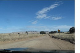 Driving south through the San Raphael Valley area of Coronado National Forest just north of the Arizona - Mexico border.