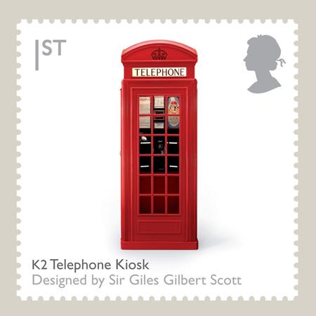 K2 British Red Telephone Box