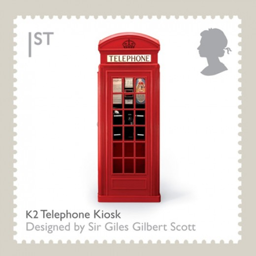 K2 British Red Telephone Box