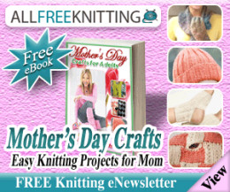 """Free Mother's Day Knitting eBook:    """"9 Easy Knitting Projects for Mom."""""""
