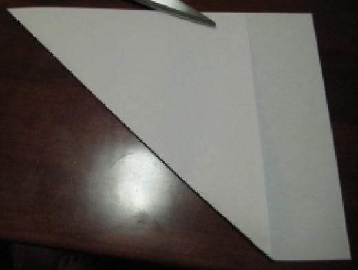 A Diagonal Fold Creates the Square