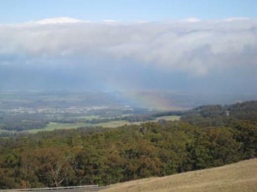 We found a rainbow on the way to get our camping permit