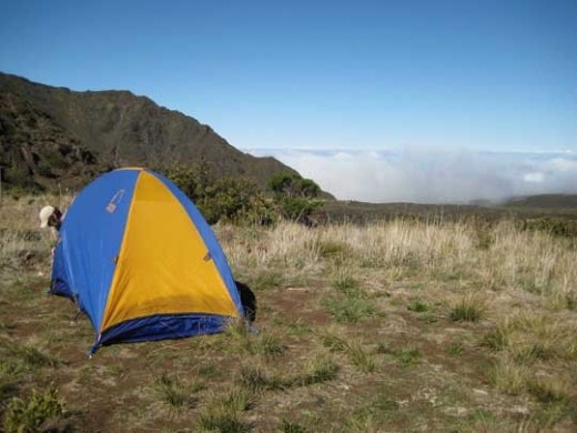 Camping at the level of the clouds