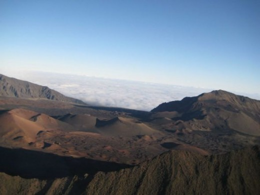 View of the Crater from a Helicopter ride we had the day before camping.