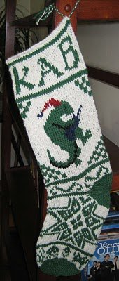 Keith's stocking (designed by ChemKnits)