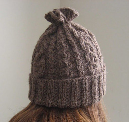 14-cable hat... a gift for me! (designed by ChemKnits)