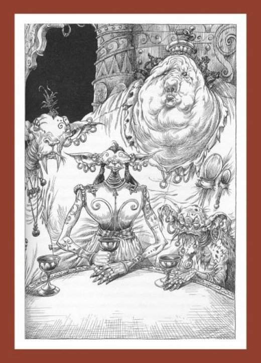 The Goblin Leaders - The great art by Chris Riddell sets these books apart from any others.