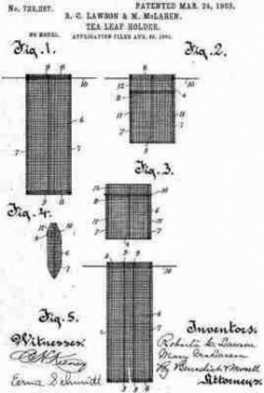 Patent for a tealeaf holder