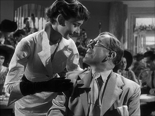 Audrey with Alec Guinness in 'The Lavender Hill Mob' in 1951