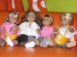 Dolls at Orange Leaf