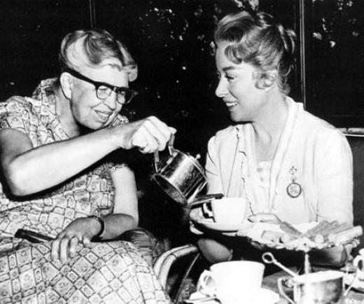 Eleanor Roosevelt with Greer Garson