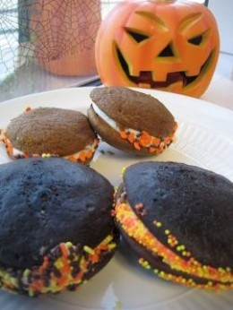 Halloween Pumpkin and Whoopie Pies