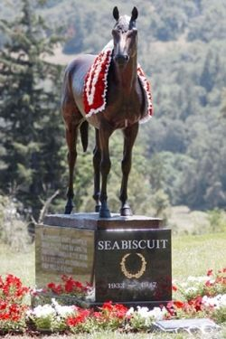 Photo of Seabiscuit monument from Iconstatues.com - click for complete attibution