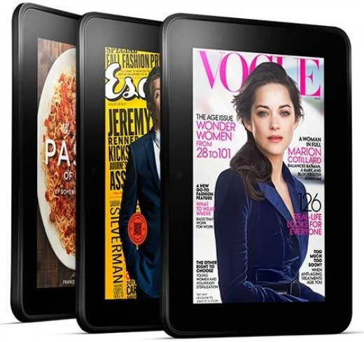 Enjoy books and magazines in brilliant color when you choose a Kindle Fire!