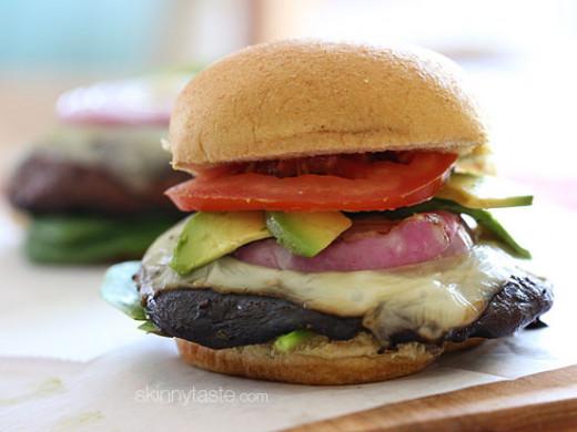 Gina's Skinny Mushroom Burger
