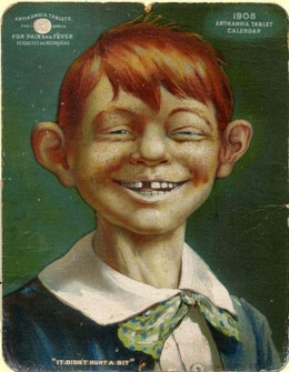 Early Version of Alfred E. Neuman on 1908 Calendar