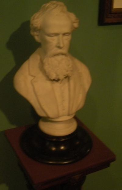 Charles Dickens Bust at Chateau Ramezay