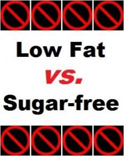 Low Fat vs. Sugar Free?