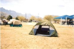 Camp Site White Sands Missile Range New Mexico