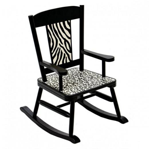 Zebra Print Rocking Chair For Kids