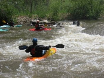 Kayakers in Colorado