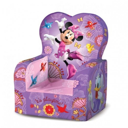 Purple Minnie Mouse Kids Chair