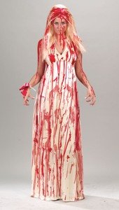 Halloween Costume With Red Blood Stains