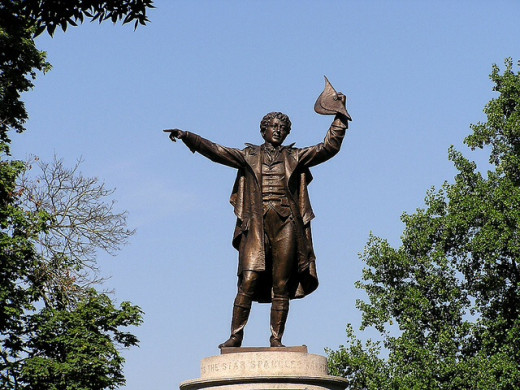 Statue of Francis Scott Key in Frederick, Maryland.