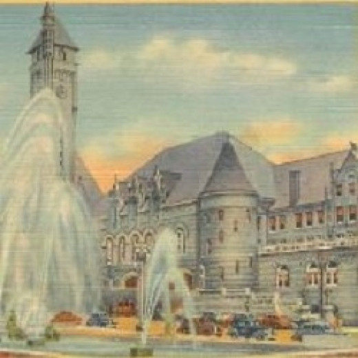 Postcard of Aloe Plaza