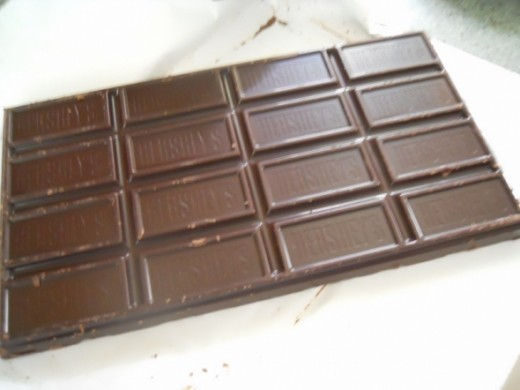 I use a large dark chocolate candy bar.
