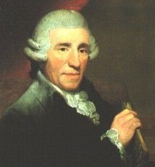 Portrait of Haydn in 1792 by Andrew Hardy