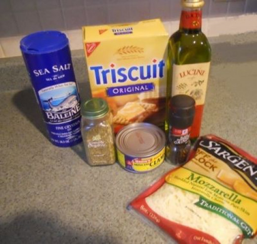 A Few Simple Ingredients for Clams Oreganato Crackers