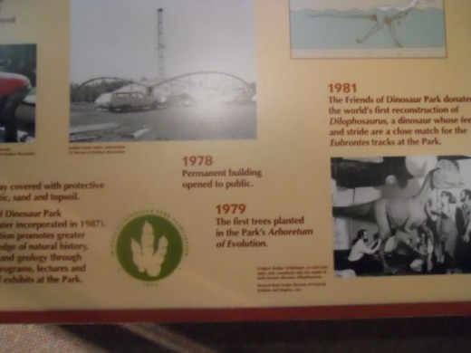 History of the Establishment of  Dinosaur State Park