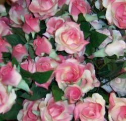 Sturdy silk roses.