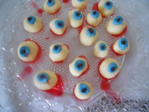 White Chocolate Eyeballs --------- Icky but Good