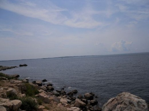 At Bluff Point - View of Long Island Sound