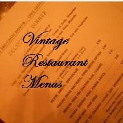 Vintage Restaurant Menus