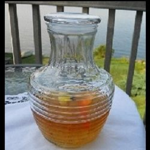 Wide necked bottle for recipe